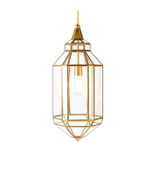West Elm Moroccan Glass Lantern Pendant