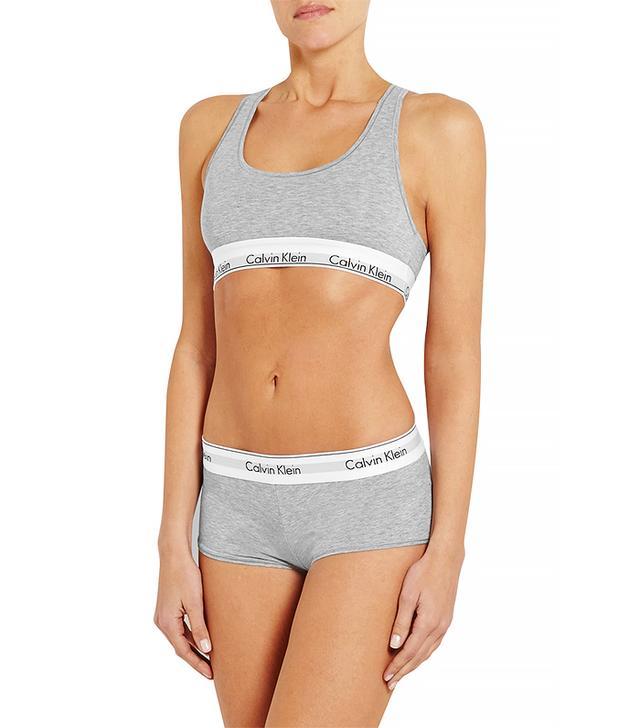 Calvin Klein Underwear Modern Stretch Cotton-Blend Soft-Cup Bra
