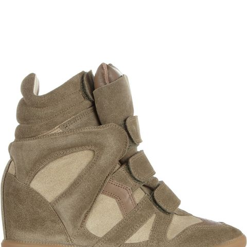 Bekett Suede Wedge Sneakers
