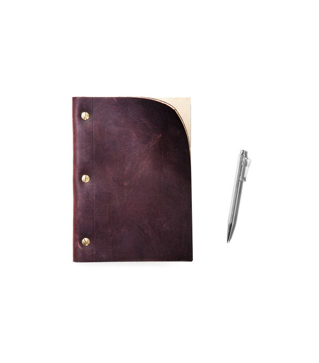 Kaufmann-Mercantile Refillable Brown Leather Notebook