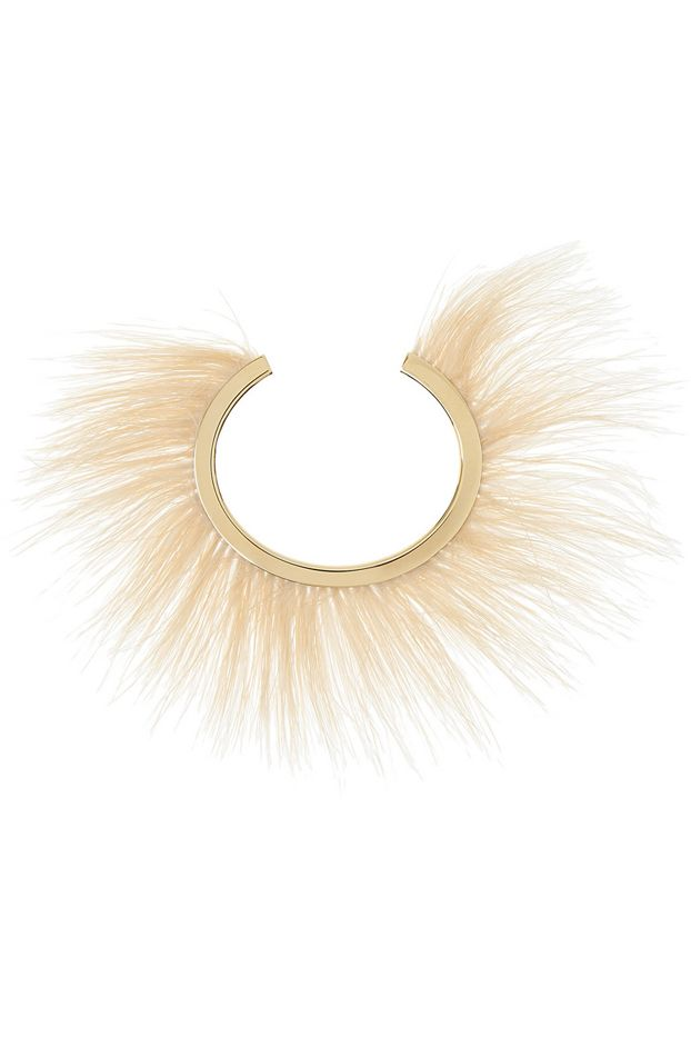 Isabel Marant Feather and Gold Tone Bangle