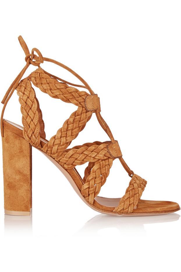 Gianvito Rossi Braided Suede Sandals