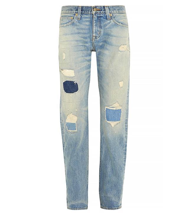 J.Crew + Point Sur Denim X-Rocker Distressed Boyfriend Jeans