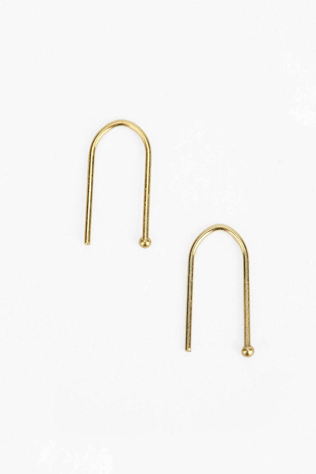 Urban Outfitters Gold & Sterling Silver Wire Earrings