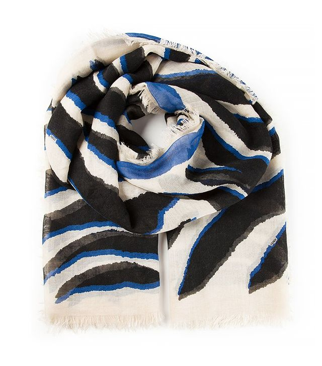 Fendi Zebra Printed Scarf