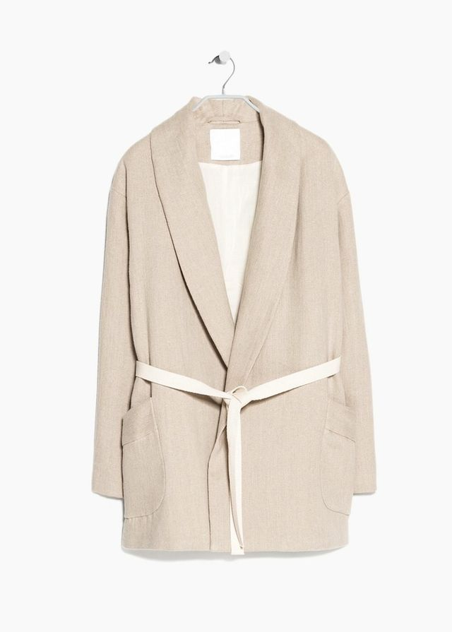 Mango Premium Linen Coat