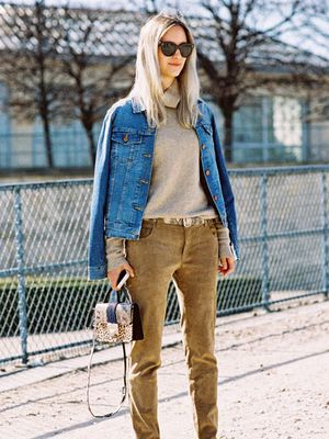 This Street Style Look Will Make You Need Suede Pants