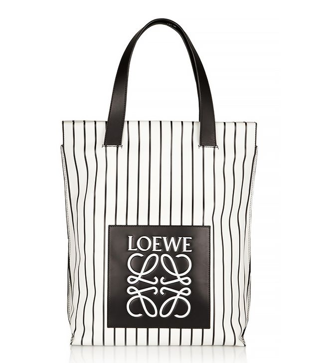 Loewe Striped Leather Shopper