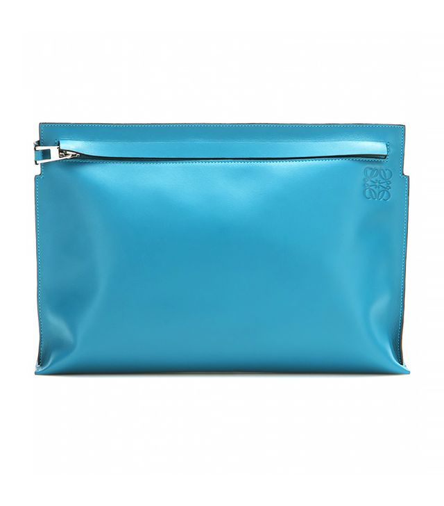 Loewe Grande Leather Clutch