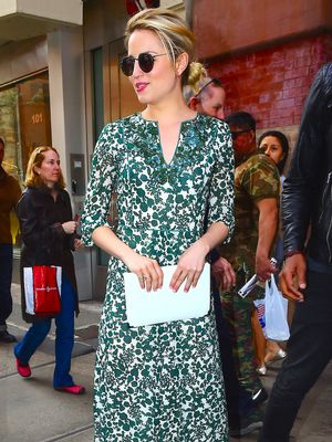 Found It: Dianna Agron's Leaf Print Caftan