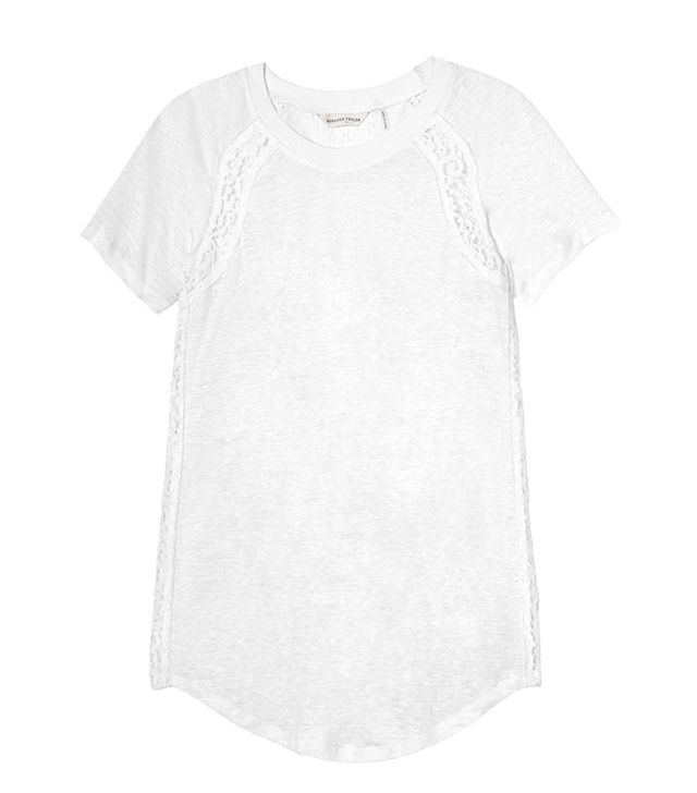 Rebecca Taylor Linen & Lace Tee