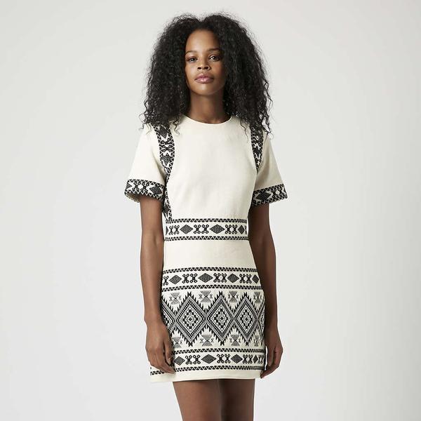 Topshop Aztec Jacquard Shift Dress