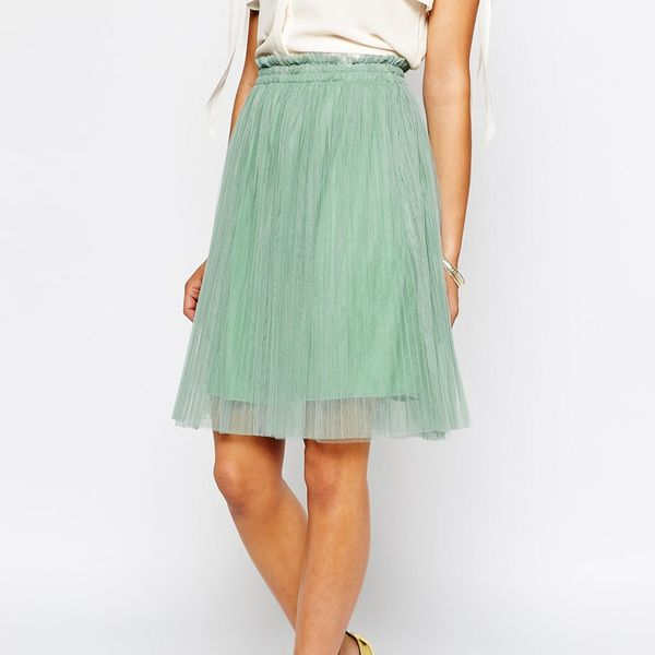 ASOS Darccy Tulle Midi Skirt