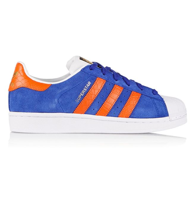 adidas Suede and Croc-Effect Leather Superstar Sneakers