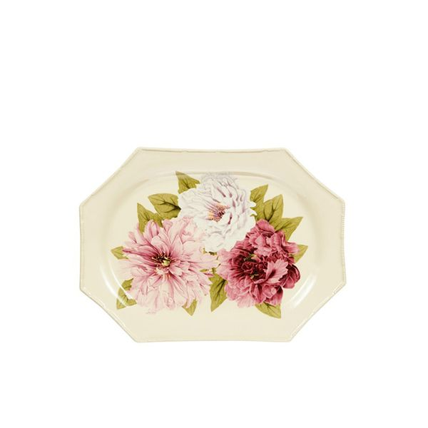 Oscar de la Renta New York Botanical Gaden Peony Serving Platter