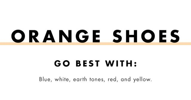 What to wear with coloured heels: orange shoes