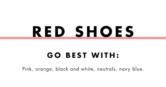 What to wear with coloured heels: red shoes