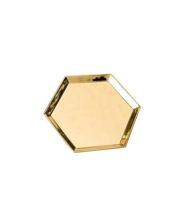 Francesca's Gold Hexagon Tray
