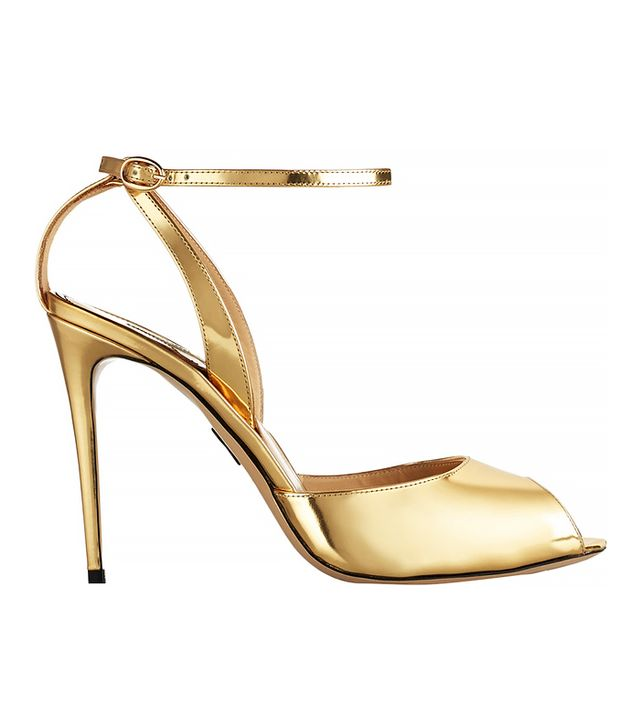 Paul Andrew Europeaus Metallic Patent-Leather Pumps