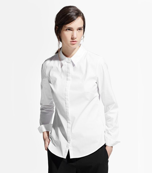 Mango Fitted Cotton Shirt