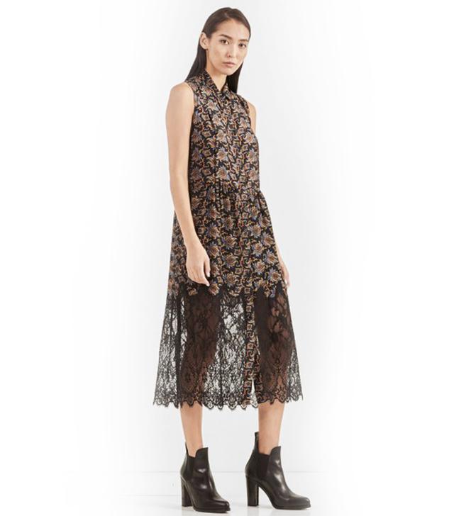 Sea NY Lace Combination Sleeveless Dress