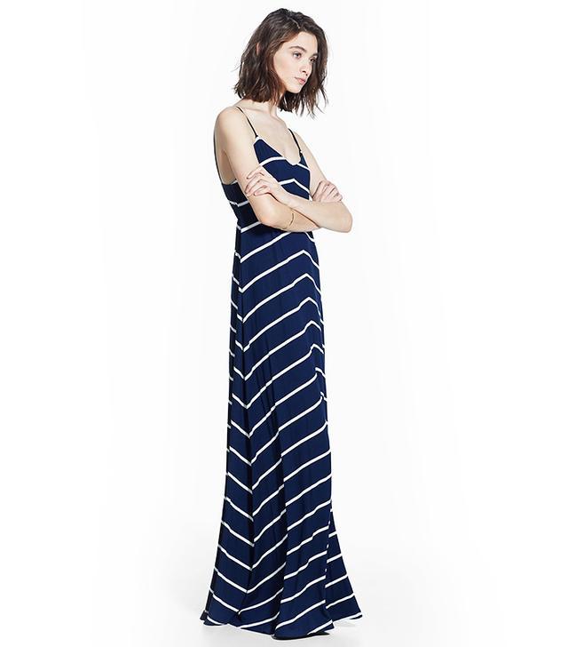 MANGO Striped Long Dress