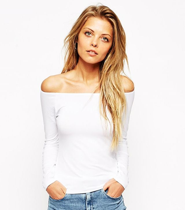 ASOS The Off-Shoulder Top With Long Sleeves
