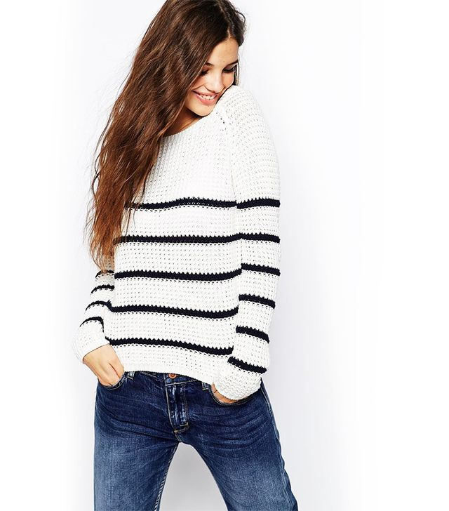 Only Breton Stripe Knitted Sweater