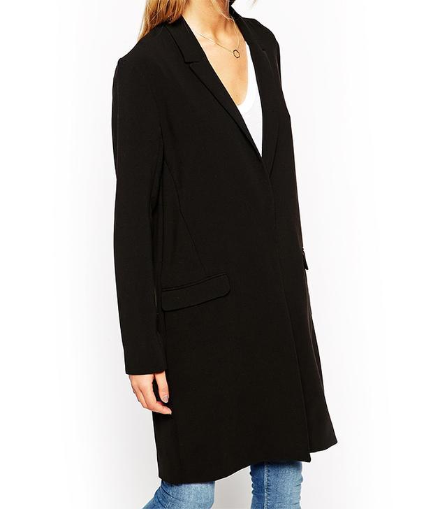 ASOS Longline Jacket with Skinny Lapel