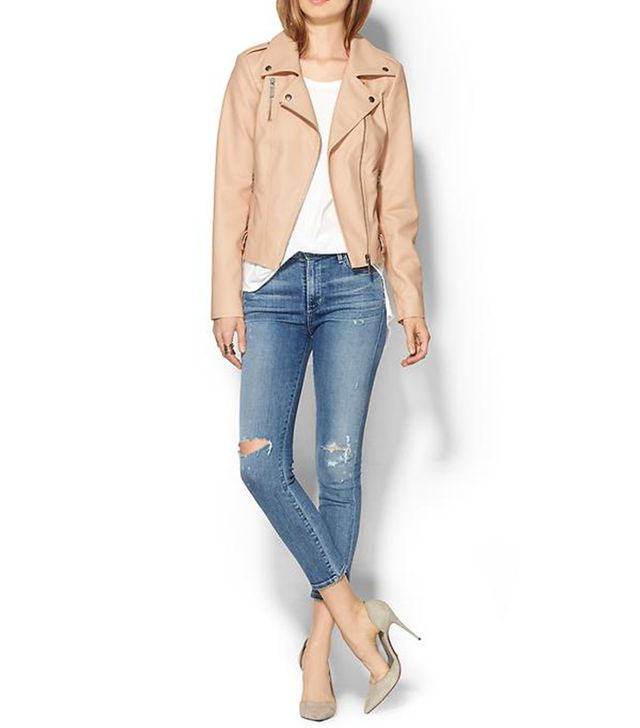 Piperlime Collection Leather Moto Jacket