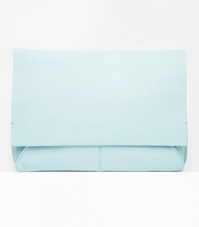 ASOS Unlined Soft Leather Flap Over Clutch