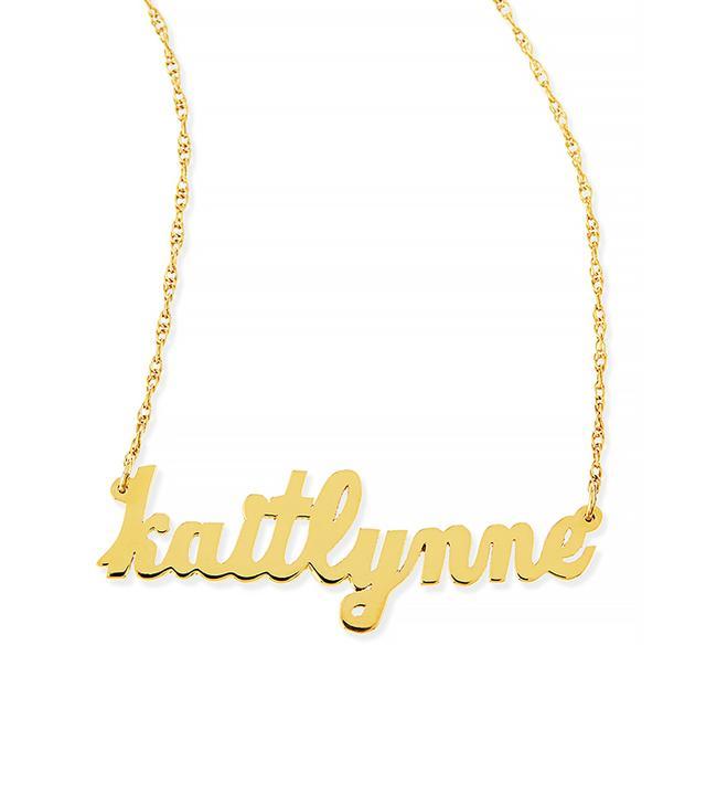 Jennifer Zeuner Serafina Personalized Mini Nameplate Necklace
