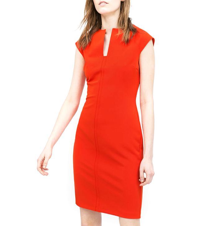 Zara Shift Dress in Orange