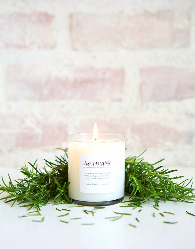 The Little Market Rosemary Soy Blend Candle