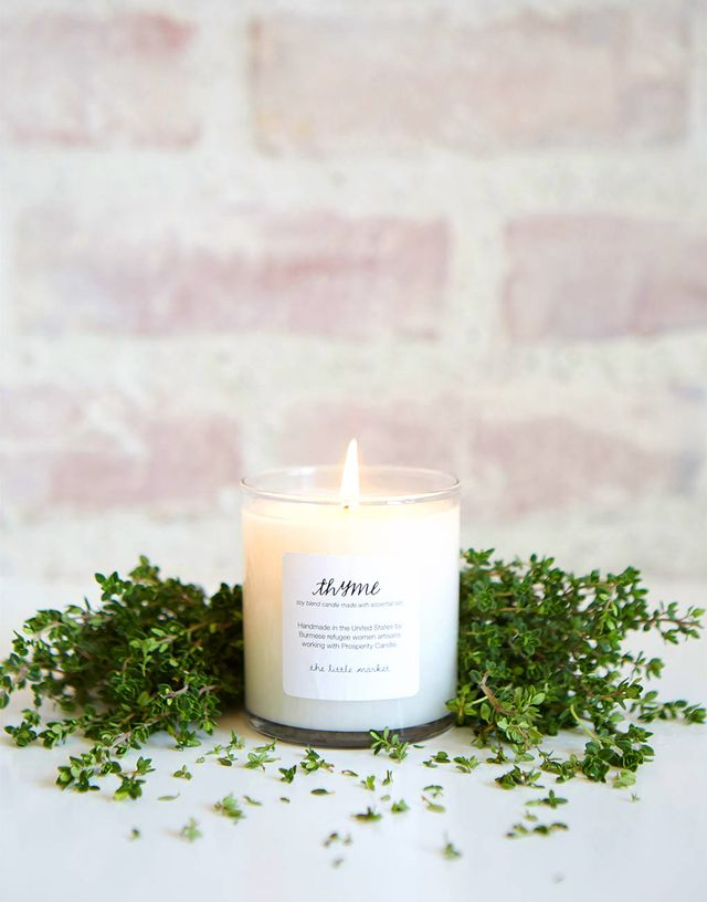 The Little Market Thyme Soy Blend Candle