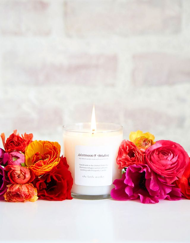 The Little Market Blooming Garden Soy Blend Candle