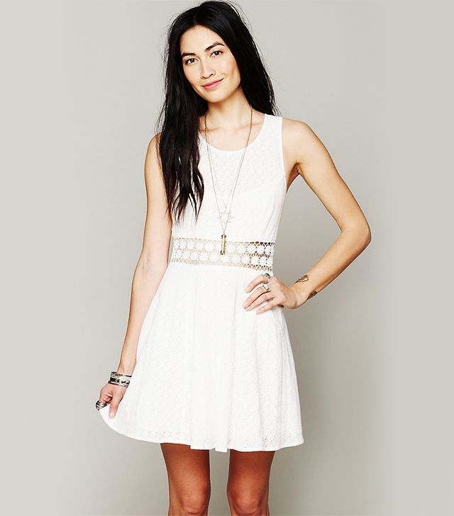 Free People Fitted With Daises Dress