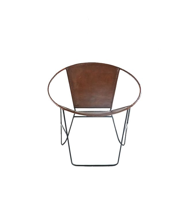 Urban Outfitters Jax Leather + Wire Chair