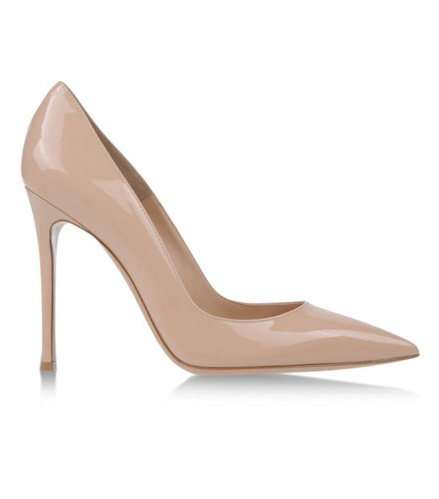 Gianvito Rossi Nude Patent Leather Pumps