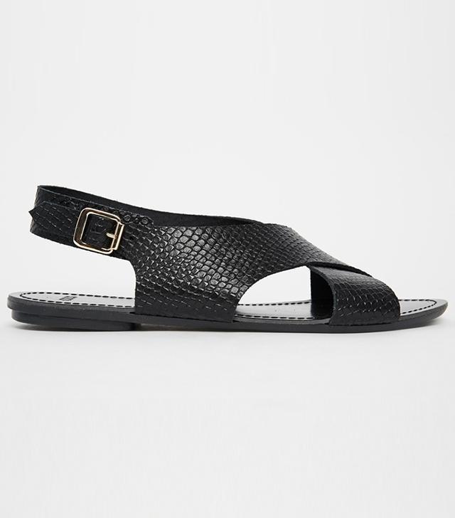 ASOS Freya Embossed Cross Strap Sandals