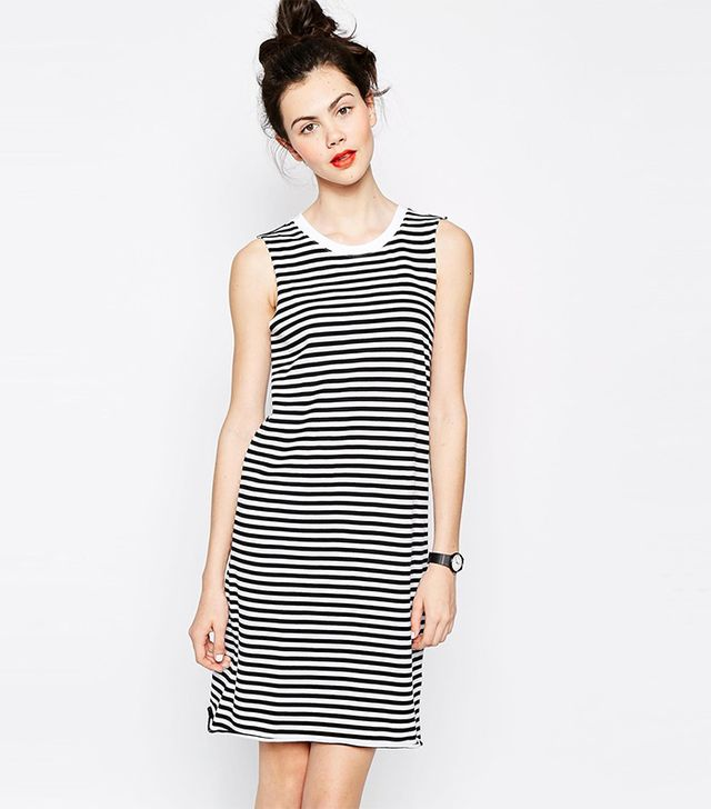 Monki Sleeveless Stripe Dress