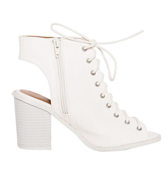 Pixie Market White Lace Up Shoes