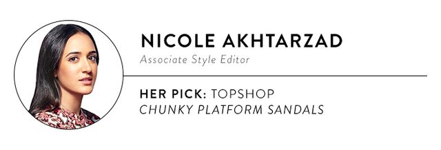 """""""The most comfortable heels I've ever owned were a pair of Topshop platforms similar to these. They're the perfect ratio of heel to platform, soyour foot isn't arched too much...."""