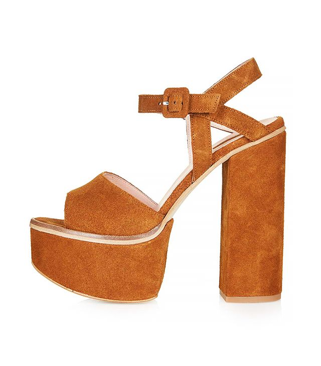 Topshop Lilith Suede Chunky Platforms