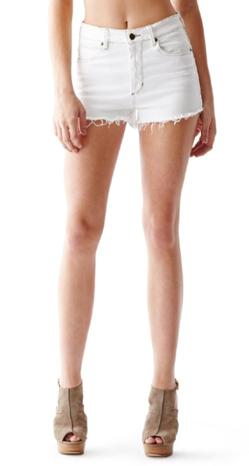Guess High-Rise Cutoff Denim Shorts