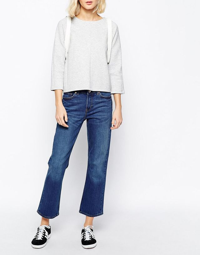 Weekday Cut High Waist Slightly Bootcut Jeans
