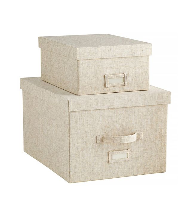 The Container Store Linen Storage Boxes