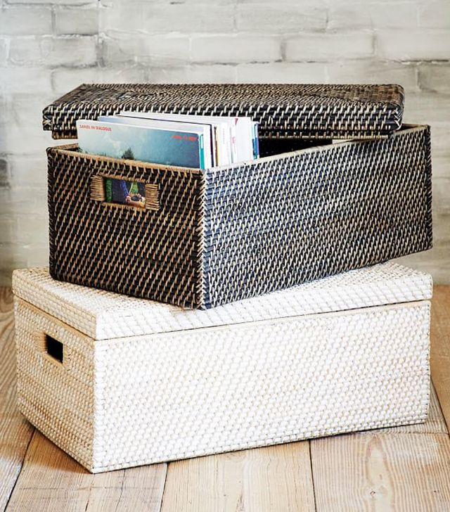 West Elm Modern Weave Storage Small Lidded Basket