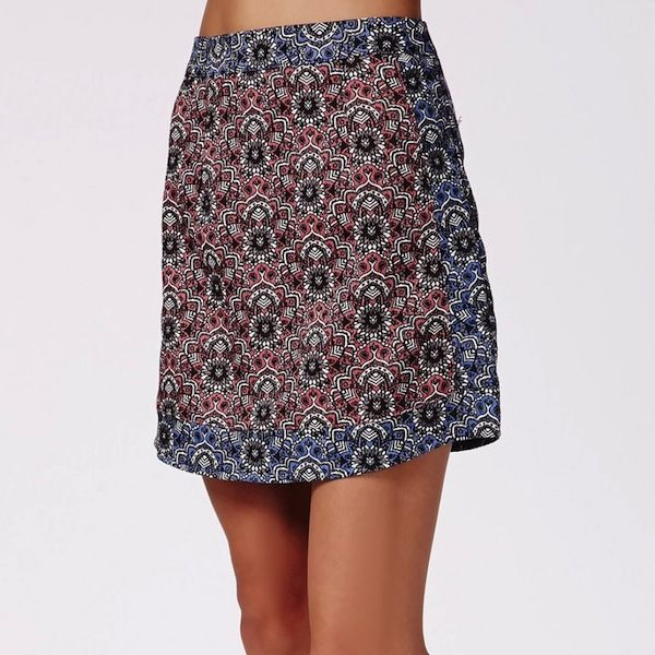 Missguided Contrast Paisley Print A Line Mini Skirt