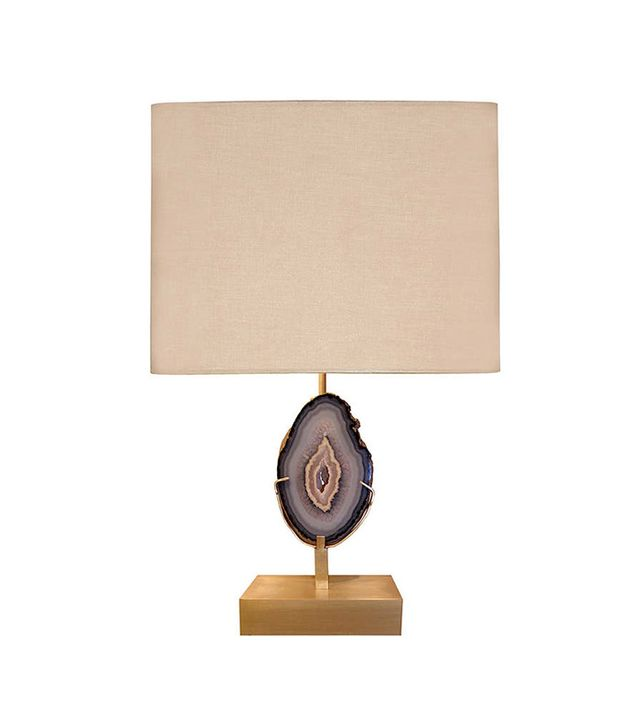 1stdibs Willy Daro Bronze and Agate Lamp